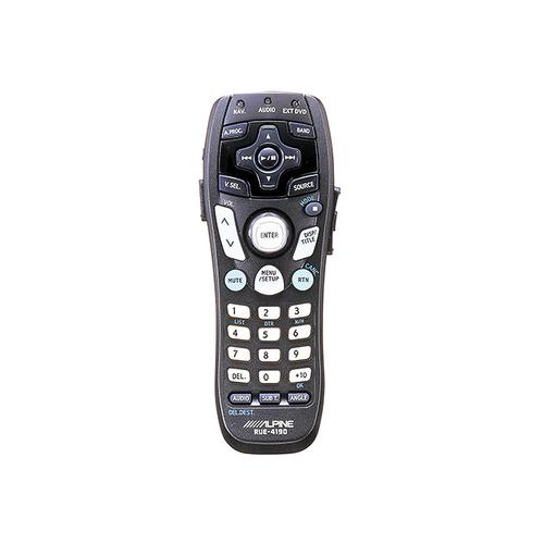 Universal remote control for use with your Alpine audio, navigation, DVD, TV Tuner System.