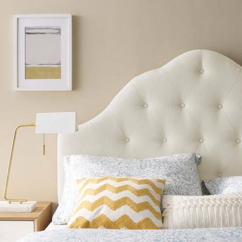 Modway - Sovereign Queen Upholstered Fabric Headboard in Ivory