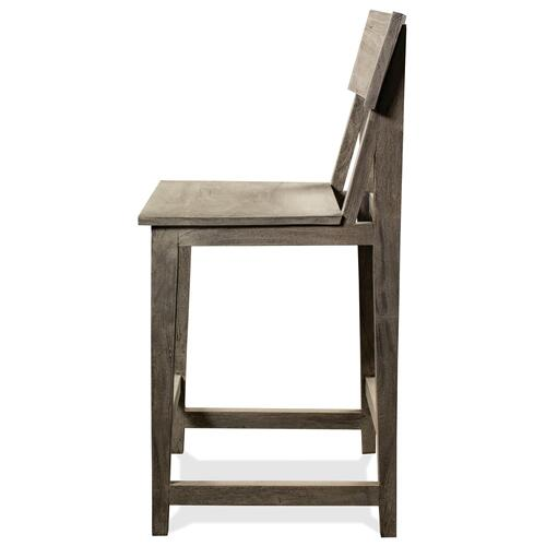 Waverly - Counter Stool - Sandblasted Gray Finish