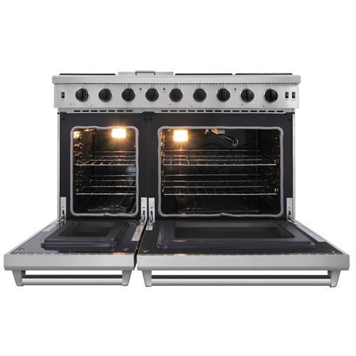 48 Inch Gas Range In Stainless Steel