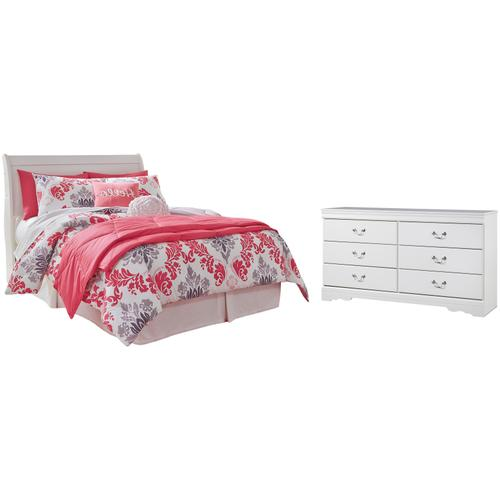 Full Sleigh Headboard With Dresser