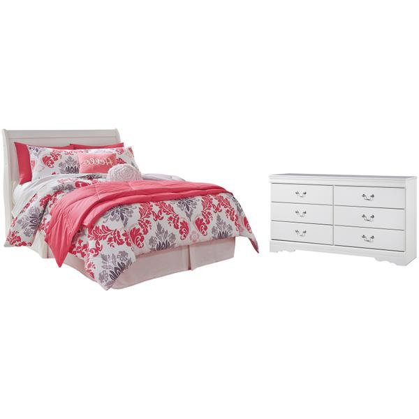 See Details - Full Sleigh Headboard With Dresser