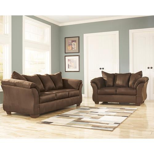 Signature Design by Ashley Darcy Loveseat in Cafe Microfiber [FSD-1109LS-CAF-GG]