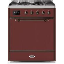 "30"" Inch Burgundy Natural Gas Freestanding Range"