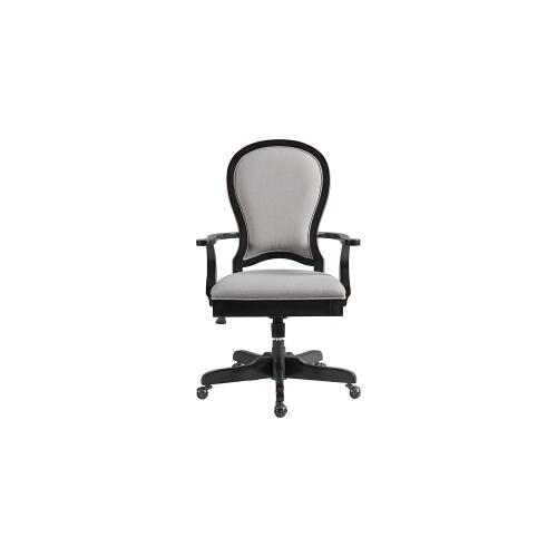 Round Back Uph Desk Chair - Kohl Black Finish