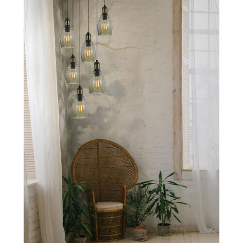 60W Accera RippLED Glass Pendant (Edison Bulb Not included)