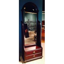 Cherry Cheval Mirror with Storage