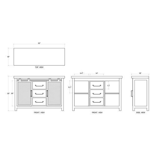 Product Image - Urban Buffet w/ Sliding Door
