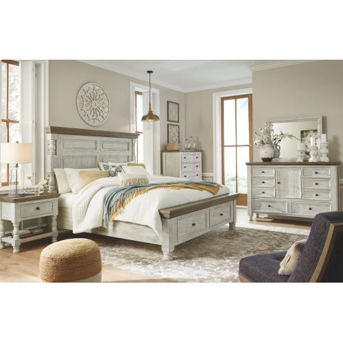 Havalance King Poster Bed With 2 Storage Drawers