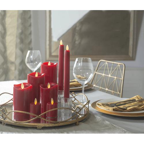Red LED Votive Candle Set (2 pc. set)