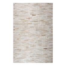 Durable Handmade Natural Leather Patchwork Cowhide Brick Area Rugs by Rug Factory Plus - 8' x 10' / Cola