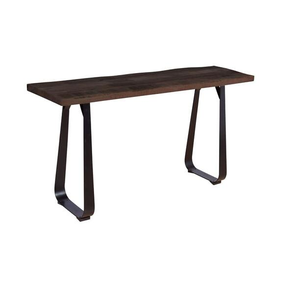 Crossover Espresso Console Tables with different bases, SB-AUT-28E