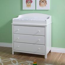Changing Table with Drawers - Pure White