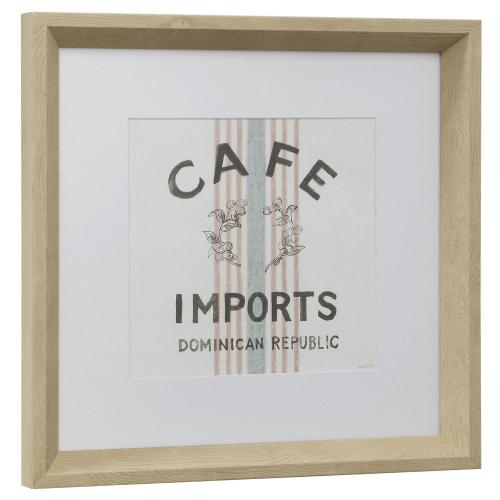 Style Craft - COFFEE SHOP II  13in w X 13in ht  Framed Print Under Glass with Matte