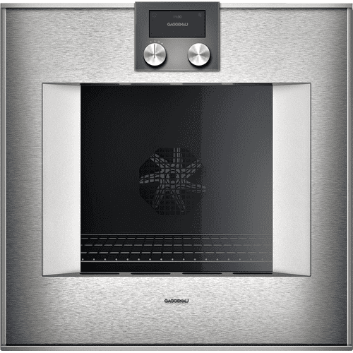 """Gaggenau BO450611  400 series 400 series oven Stainless steel-backed full glass door Width 24"""" (60 cm) Right-hinged Controls on top"""