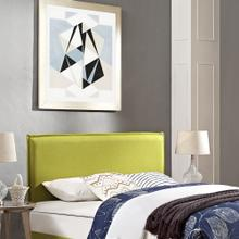 Camille Full Upholstered Fabric Headboard in Wheatgrass