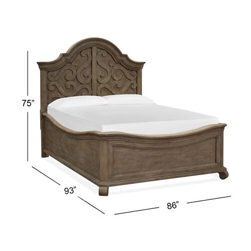 Complete Cal.King Shaped Panel Bed