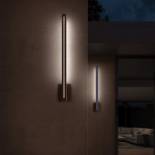 "Sonneman - A Way of Light - Stripe LED Sconce [Size=24"", Color/Finish=Textured Bronze]"