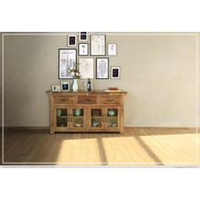 See Details - Console w/ 3 Drawer & 4 Glass Door