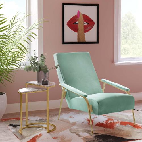Abbey Mint Green Velvet Chair