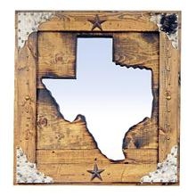 Large State of Texas Mirror Da