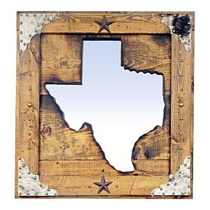 Large State of Texas Mirror Da
