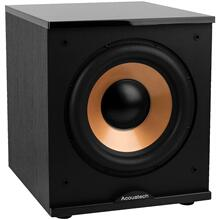 "500-Watt Acoustech 12"" Front-Firing Powered Subwoofer with Black Lacquer Top"