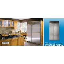 """See Details - 42"""" Side by Side Refrigerator/Freezer - 42"""" Marvel Professional Side-by-Side Refrigerator/Freezer - Stainless Steel Interior, Glass Door"""