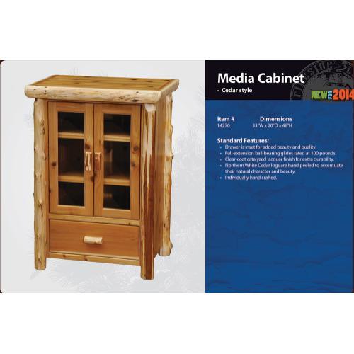 Fireside Lodge - Media Cabinet