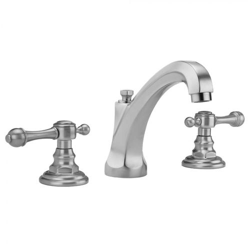 Jaclo - Satin Chrome - Westfield High Profile Faucet with Majesty Lever Handles & Fully Polished & Plated Pop-Up Drain