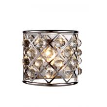 Madison 1 light Polished Nickel Wall Sconce Clear Royal Cut Crystal