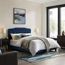 View Product - Amelia Twin Performance Velvet Bed in Navy