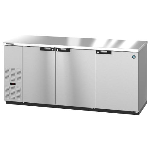 BB80-S, Refrigerator, Three Section, Stainless Steel Back Bar Back Bar, Solid Doors
