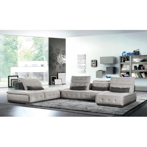 David Ferrari Daiquiri Italian Modern Light Grey & Dark Grey Fabric Modular Sectional Sofa