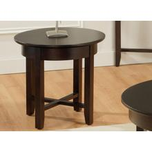 View Product - Demilune Round End Table