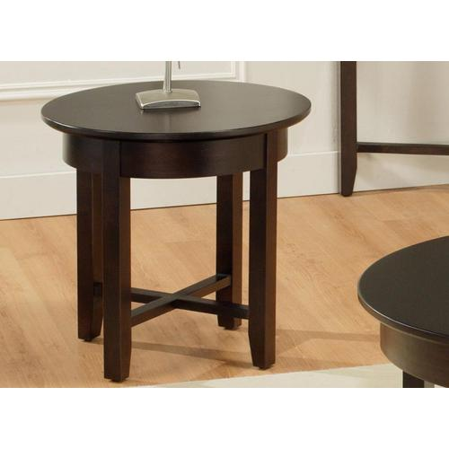 - Demilune Round End Table