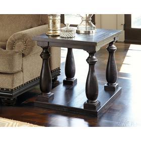 Mallacar Rectangular End Table Black