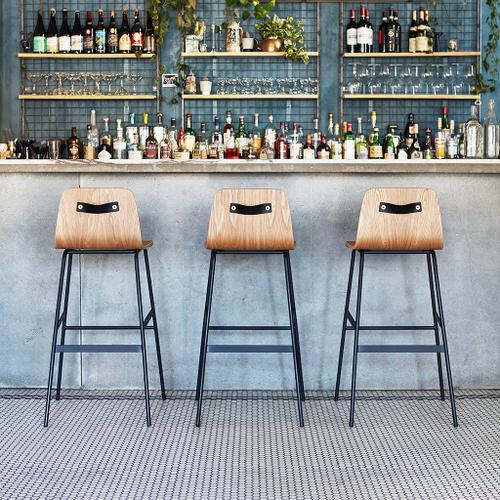 Lecture Bar Stool Walnut