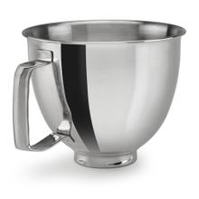 3.5 Quart Polished Stainless Steel Bowl with Handle - Other