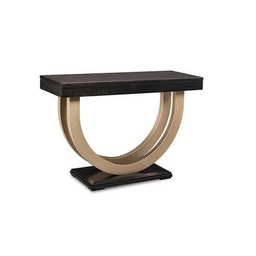 """- Contempo Pedestal 46"""" Sofa Table with Metal Curves"""