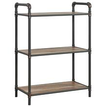 Bronx 3-Tier etagère in Antique Black