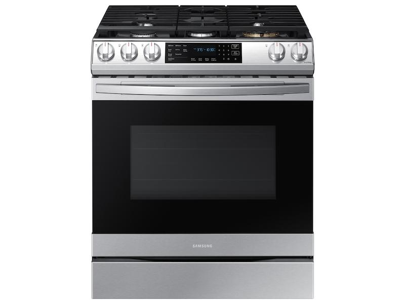 Samsung6.0 Cu. Ft. Front Control Slide-In Gas Range With Air Fry & Wi-Fi In Stainless Steel