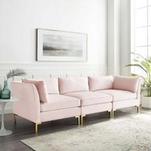 Ardent Performance Velvet Sofa in Pink