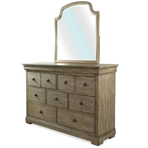 Louis Farmhouse - Mirror - Antique Oak Finish