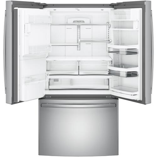 "!!! BIG DISCOUNT !!! GE Profile™ Series ENERGY STAR® 22.1 Cu. Ft. Counter-Depth French-Door Refrigerator with Hands-Free AutoFill -FULL WARRANTY - CUSTOMER ORDERED IN ERROR - BRAND NEW...        Width: 35.75""      Height: 69.875""      Depth: 31.25"""