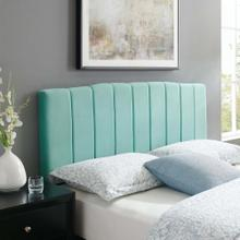 Camilla Channel Tufted Full/Queen Performance Velvet Headboard in Mint
