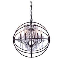 See Details - Geneva 6 light Dark Bronze Chandelier Clear Royal Cut crystal