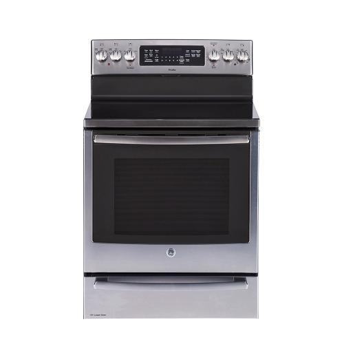 "GE Profile™ 30"" Free Standing Electric True Convection Range with Baking Drawer Stainless Steel - PCB987SMSS"