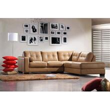 Divani Casa 306ANG Camel Leather Sectional Sofa