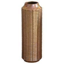 LENNON VASE- LARGE  Copper Finish on Ceramic